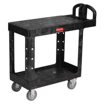 "HD Utility Cart - Small 16""x30"" - Flat Shelf - Black, 1/EA"