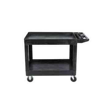 "HD Utility Cart - Large 24""x36""Flat HDL - 2 Shelf - Black, 1/EA"