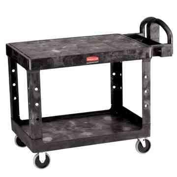 "HD Utility Cart - Large 24""x36"" - Flat Shelf - Black, 1/EA"