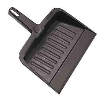 Heavy-Duty Dust Pan - Charcoal Black, 12/EA