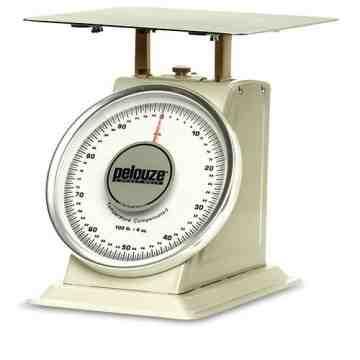 Heavy Duty Mechanical Receiving Scale Dual Read 100lbs, 1/EA