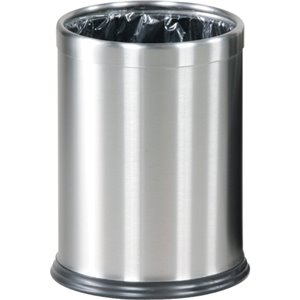 Hide A Bag - Open Top Wastebasket 3.5G-Stainless ,  1 / EA