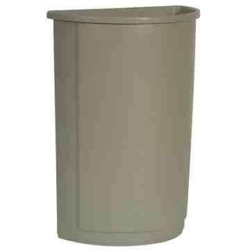 Half Round Waste Container 21G - Beige, 4/EA