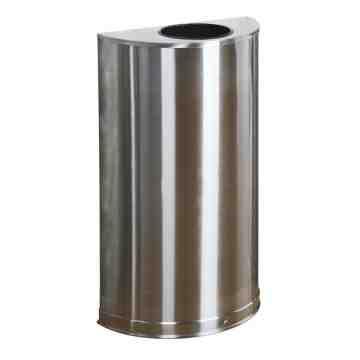 Half Round -12G - Stainless Steel w/Plastic Liner ,  1 / EA