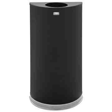 Half Round -12G - Black w/Plastic Liner ,  1 / EA