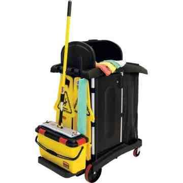 Cleaning Cart Microfiber Kit 9T75/Q950+More - Black/Yellow, 1/EA