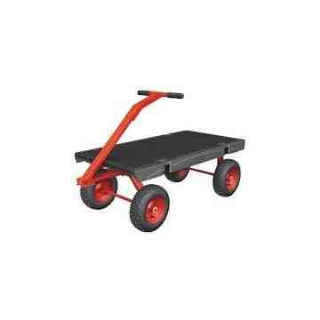 "Wagon 5th Wheel 24x48"" 2000lb 12"" Pneumatic - Black, 1/EA"