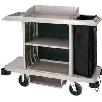 Full Size Housekeeping Cart Traditional- Platinum[6189], 1/EA