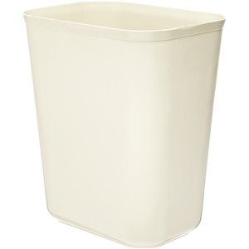 Fire Resistant Wastebasket, Cap 7 Qt - Beige, 6/EA
