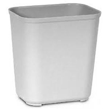 Fire Resistant Wastebasket Cap 28 Qt - Gray, 6/EA