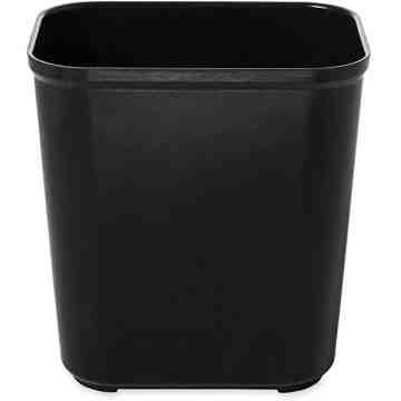 Fire Resistant Wastebasket Cap 28 Qt - Black, 6/EA