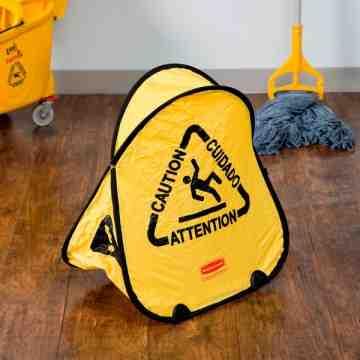 Folding Safety Cone Eng/Fr/Sp, 12/EA