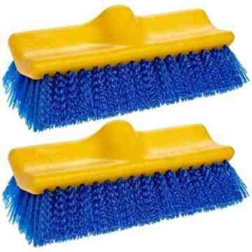Floor Scrub, Plastic Block, Bi-level, Polypropylene Fill, 6/EA