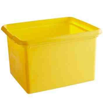 Janitor Cart Organizing Bins 30qt - Yellow, 2/EA