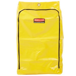 Janitorial Cleaning Cart Vinyl Bag - 24G Traditional - Yellow[6183], 4/EA