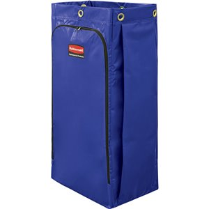 Janitorial Cleaning Cart Vinyl Bag - 34G High Capacity - Blue[9T93/9T93-01], 4/EA