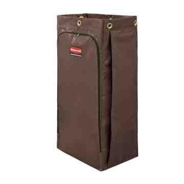 Janitorial Cleaning Cart Vinyl Bag - 34G High Capacity - Brown[6193], 4/EA
