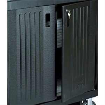 Locking Door Kit Fits Assorted HK Carts - Black, 1/EA