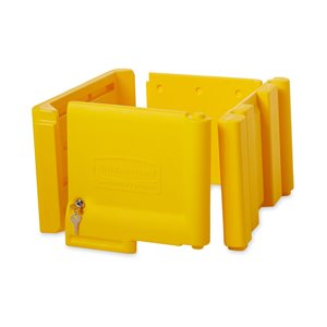 Locking Janitor Cart Cabinet Fits 6173 - Yellow, 1/EA