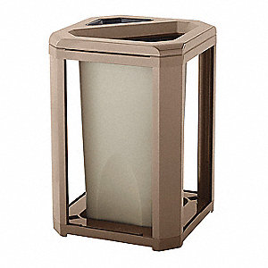 Landmark Cont Dome Top w/Ashtray Frame/Liner Only 45G - Driftwood(Beige), 1/EA