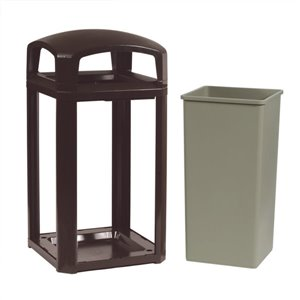 Landmark Cont Dome Top Frame/Liner Only 45G - Sable Brown, 1/EA