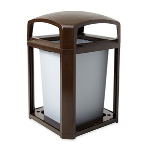 Landmark Cont Dome Top Frame/Liner Only 35G - Sable Brown, 1/EA