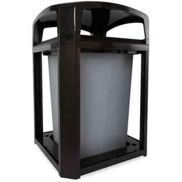 Landmark Cont Dome Top Frame/Liner Only 35G - Black, 1/EA