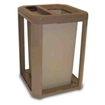 Landmark Cont Ash/Trash Frame/Liner Only 35G - Driftwood(Beige), 1/EA