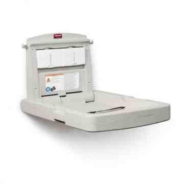 NG Vertical Baby Changing Station  (w/Black Safety Belt) - Platinum, 1/EA