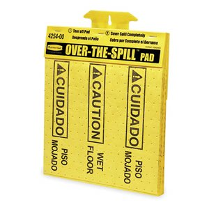 Over-the-Spill Tablet 20 Pads For Use w/6112Sign-Yellow, 12/EA