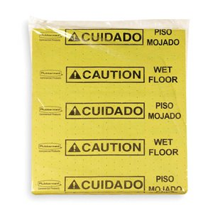 Over-the-Spill Station Pad Lrg Refills for 4251- Yellow, 12/EA