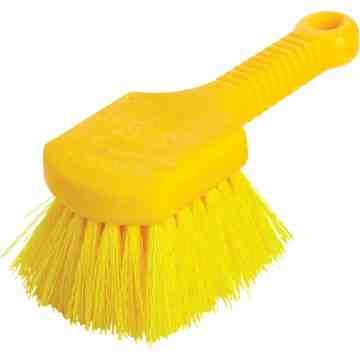 "Utility Brush - 8"" Short Plastic Handle Synthetic Fill, 6/EA"