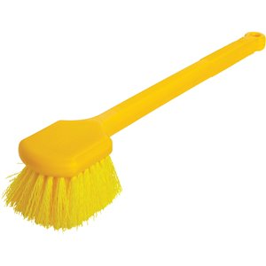 """Utility Brush - 20"""" Long Plastic Gong Style Handle  Synthetic Fill, 6/EA"""