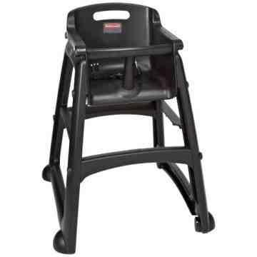 Sturdy Chair Youth Seat w/wheels - Black, 1/EA