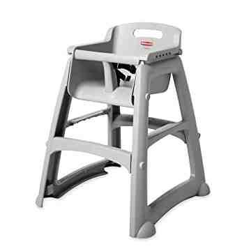 Sturdy Chair Youth Seat w/o wheels Unassembled - Platinum, 1/EA
