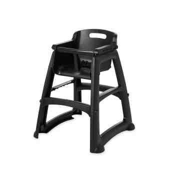 Sturdy Chair Youth Seat w/o wheels Unassembled - Black, 1/EA