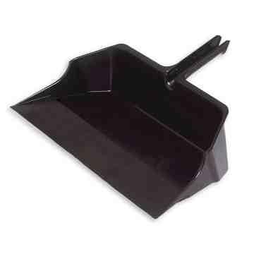 """Dust Pan Jumbo Plastic 22"""" - Black, 6/EA"""