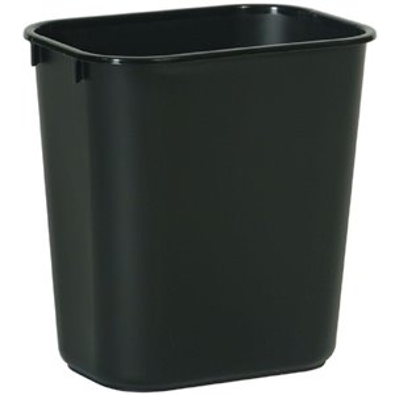Wastebasket Vanity 13 5/8qt - 12.9L - Black, 12/EA