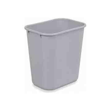 Wastebasket Vanity 13 5/8qt - 12.9L - Gray, 12/EA