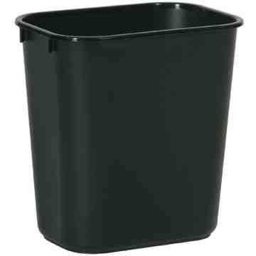 Wastebasket Vanity 28 1/8qt - 26.6L - Black, 12/EA
