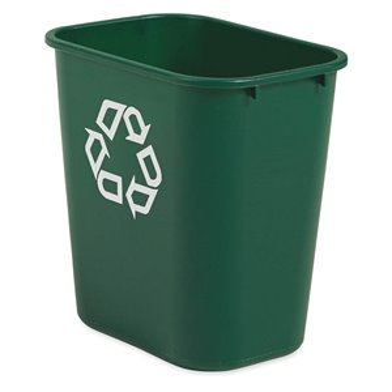 Wastebasket Vanity 28 1/8qt - 26.6L w/Reclying - Green, 12/EA