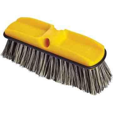 "Wash Brush - 10"" Plastic Block Flagged Synthetic Fill, 6/EA"