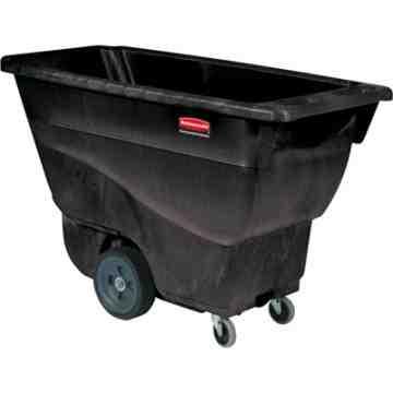 Structural Foam Tilt Truck,Utility Duty, Size 1/2 Cu. Yd - Black, 1/EA
