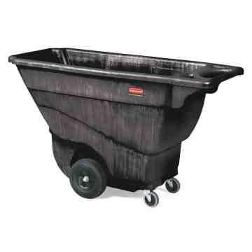 Structural Foam Tilt Truck,Standard Duty, Size 1/2 Cu. Yd - Black, 1/EA