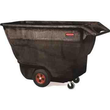 Structural Foam Tilt Truck, Standard Duty, Size 1 Cu. Yd - Black, 1/EA