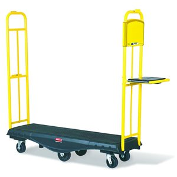 StockMate Restocking Truck Standard Deck w/Polyurethane Casters, 1/EA