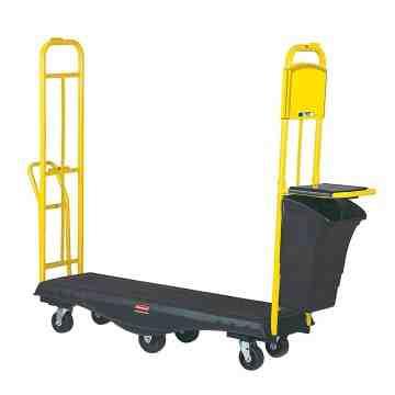 StockMate Restocking Truck Standard Deck w/Cardboard System/Polyurethane Casters, 1/EA