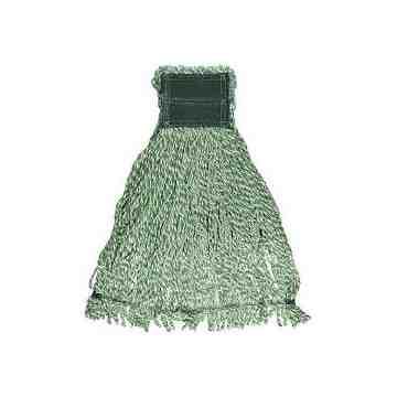 "Wet Mop - Web Foot Microfiber Wet String - 24oz 5"" - Green, 6/EA"