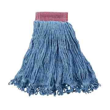 """Wet Mop - Super Stitch Looped End Blend - 16oz 5"""" - Blue, 6/EA"""