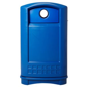 Plaza Bottle and Can Recycling Container 50G - Blue, 1/EA